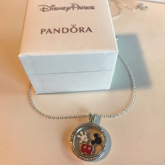 4faa5bf598a58 Pandora Sparkling Locket & Chain w/ Disney Mickey Boutique